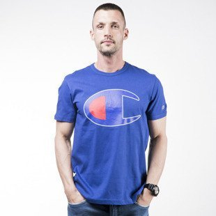 Champion t-shirt koszulka Big C royal (209768-8714)