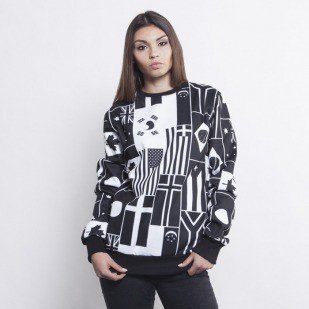 Criminal Damage bluza crewneck United black / white