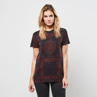 Criminal Damage koszulka Southern Tee black / red WMNS