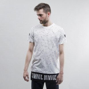 Criminal Damage koszulka Splatter Long white / black