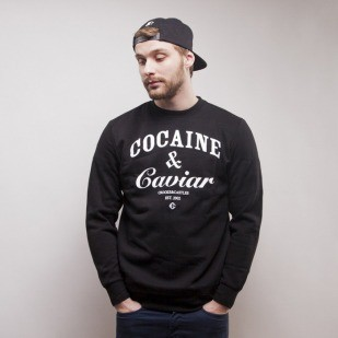 Crooks & Castles bluza crewneck Coca black / white