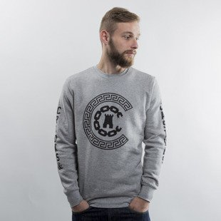 Crooks & Castles bluza crewneck Reigining heather grey