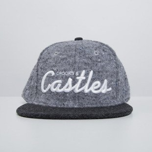Crooks & Castles czapka snapback Team Crooks speckle grey / black