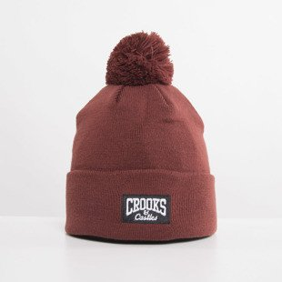 Crooks and Castles czapka zimowa Core Logo burgundy