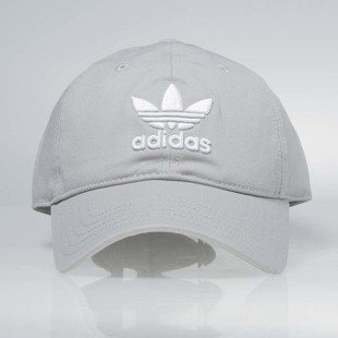 Czapka Adidas starpback Trefoil Cap medium grey heather solid grey BK7282 WMNS