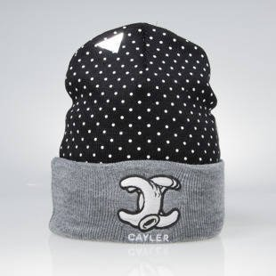 Czapka Cayler & Sons No.1 Old School Beanie black / grey heather / white WL-CAY-AW15-BN-02