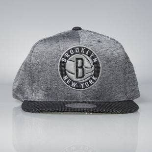 Czapka Mitchell & Ness snapback Brooklyn Nets black Space Knit PU Visor