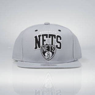 Czapka Mitchell & Ness snapback Brooklyn Nets grey EU965 Black and White Arch