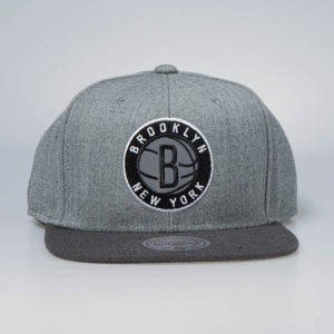 Czapka Mitchell & Ness snapback Brooklyn Nets grey / charcoal Heather Reflective
