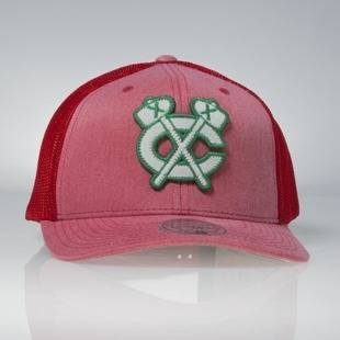 Czapka Mitchell & Ness snapback Chicago Blackhawks red Washout 110 Flexfit