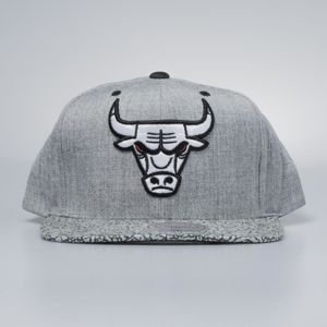 Czapka Mitchell & Ness snapback Chicago Bulls grey / black Elephant Crack