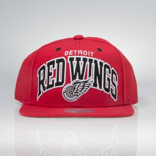 Czapka Mitchell & Ness snapback Detroit Red Wings red EU965 Black and White Arch