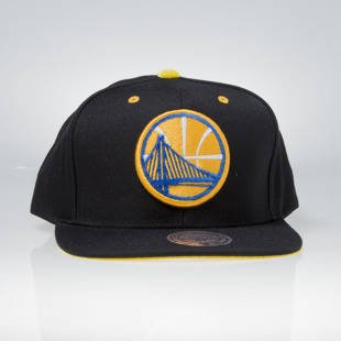 Czapka Mitchell & Ness snapback Golden State Warriors black VV19Z SOLID VELOUR LOGO