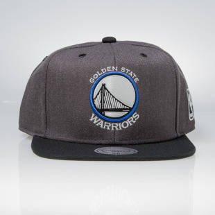 Czapka Mitchell & Ness snapback Golden State Warriors charcoal / black EU944 G3 Logo