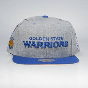 Czapka Mitchell & Ness snapback Golden State Warriors grey / royal 058VZ TEAM LOGO HISTORY