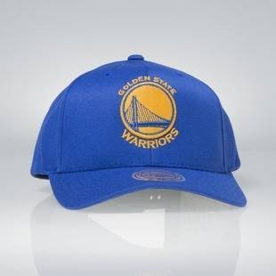 Czapka Mitchell & Ness snapback Golden State Warriors royal Team Logo High Crown Flexfit 110