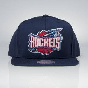 Czapka Mitchell & Ness snapback Houston Rockets navy Wool Solid / Solid 2