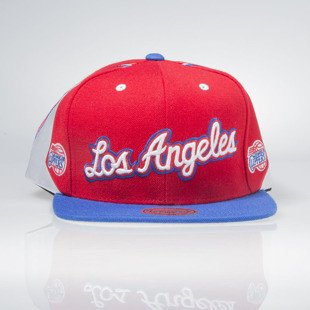 Czapka Mitchell & Ness snapback Los Angeles Clippers red Team Shorts VF72Z