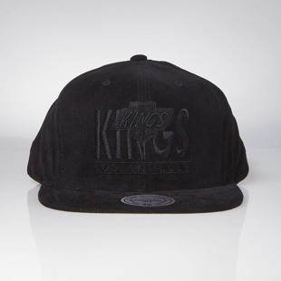 Czapka Mitchell & Ness snapback Los Angeles Kings black Bottom Line Logo