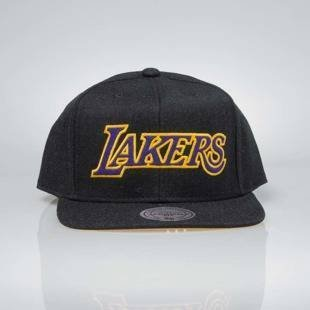 Czapka Mitchell & Ness snapback Los Angeles Lakers black INTL034 Team Heather