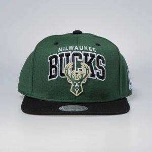 Czapka Mitchell & Ness snapback Milwaukee Bucks green / black Team Arch