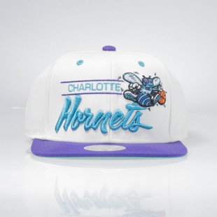 Czapka Mitchell & Ness snapback NBA Charlotte Hornets natural CITY BAR SB NU36Z