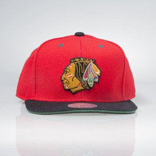 Czapka Mitchell & Ness snapback NHL Chicago Blackhawks red TIPOFF EU292