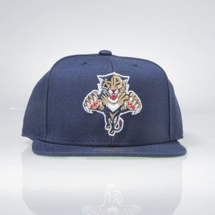 Czapka Mitchell & Ness snapback NHL Florida Panthers navy WOOL SOLID NT80Z