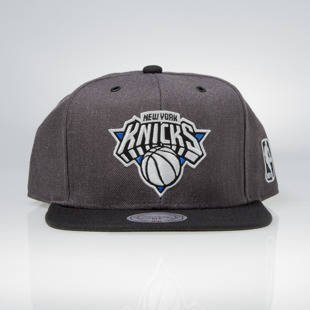 Czapka Mitchell & Ness snapback New York Knicks charcoal / black EU944 G3 Logo