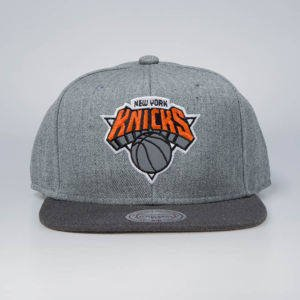 Czapka Mitchell & Ness snapback New York Knicks grey / charcoal Heather Reflective