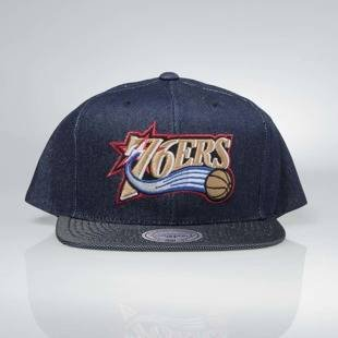 Czapka Mitchell & Ness snapback Philadelphia 76ers denim Raw Denim 3T PU