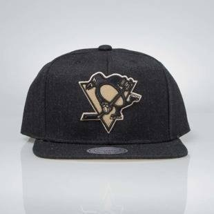 Czapka Mitchell & Ness snapback Pittsburgh Penguins black INTL034 Team Heather