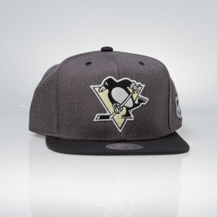 Czapka Mitchell & Ness snapback Pittsburgh Penguins charcoal / black EU944 G3 Logo