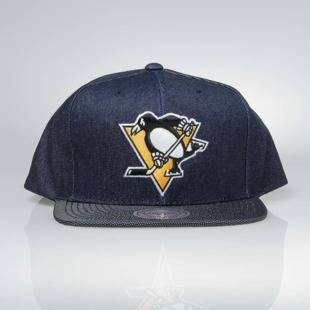 Czapka Mitchell & Ness snapback Pittsburgh Penguins denim Raw Denim 3T PU