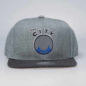 Czapka Mitchell & Ness snapback San Francisco Warriors grey / charcoal Heather Reflective
