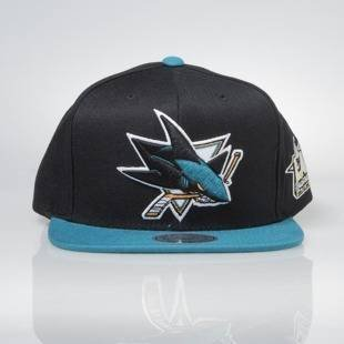 Czapka Mitchell & Ness snapback San Jose Sharks black / teal All Star Game 2Tone 464VZ