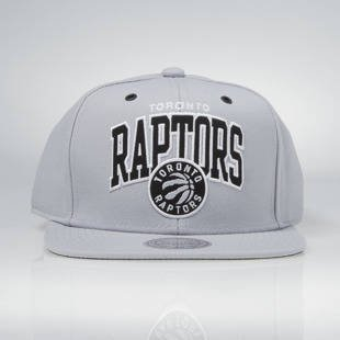 Czapka Mitchell & Ness snapback Toronto Raptors grey EU965 Black and White Arch