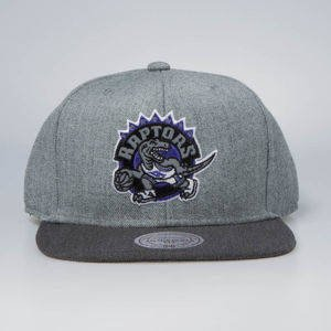 Czapka Mitchell & Ness snapback Toronto Raptors grey / charcoal Heather Reflective