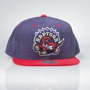 Czapka Mitchell & Ness snapback Toronto Raptors purple DENIM HARRY VE45Z