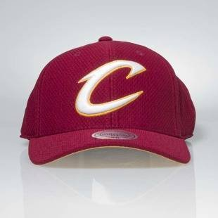 Czapka Mitchell & Ness strapback Cleveland Cavaliers burgundy Hexagon Jersey Mesh Hook and Loop