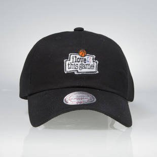 Czapka Mitchell & Ness strapback Game black HUD012 I Love This Game Low Pro