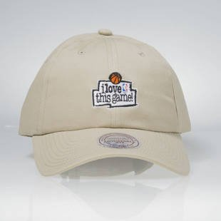 Czapka Mitchell & Ness strapback Game sand HUD012 I Love This Game Low Pro