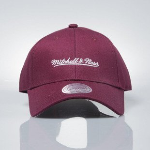 Czapka Mitchell & Ness strapback M&N Own Brand burgundy Team Logo Low Pro