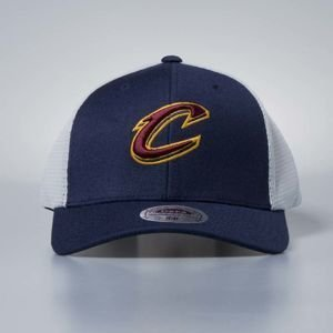 Czapka Mitchell & Ness stretch fit Cleveland Cavaliers navy Mesh Flex Trucker
