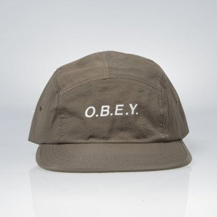 Czapka Obey Contorted 5 Panel Cap army