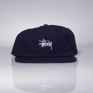 Czapka Stussy Smooth Stock Canvas Strapback Cap.navy