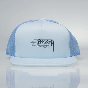 Czapka Stussy  snapback Smooth Stock Trucker Cap blue