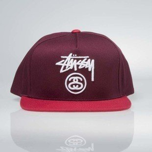 Czapka Stussy  snapback Stock Lock SP17 Cap red