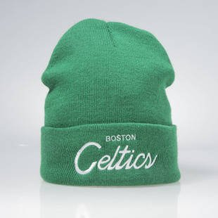 Czapka zimowa Mitchell & Ness Boston Celtics green SCRIPCUF KK42Z