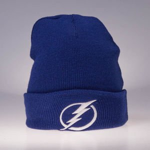 Czapka zimowa Mitchell & Ness Tampa Bay Lightning blue Team Logo Cuff Knit